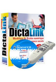 DictaLink V4 SR Auteur Pro (logiciel + Microphone à main USB)
