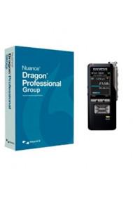 Dragon Professional Group 15 (licence 1 à 9 locuteurs) + Kit Magnétophone - Enregistreur Numérique Olympus DS-9500
