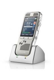 Kit Magnétophone Enregistreur Numérique Philips 8500 (Scanner Code-Barre Intégré + Logiciel + Connectique USB + Socle + Carte SD 4 Go inclus)